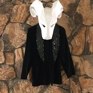 The Limited Velvet and Sequin Vintage Blazer